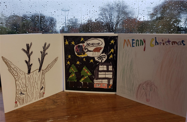 Christmas Cards designed by the boys will be on Sale next week