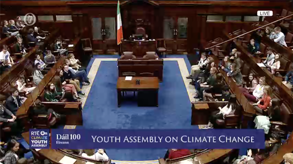 Listen Live to the Dail Chamber Session - Youth Assembly on Climate Change