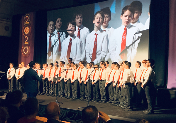 Senior Choir Perform at the RDS opening of the BT Science Fair and Symposium