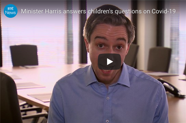 Minister Harris answers children